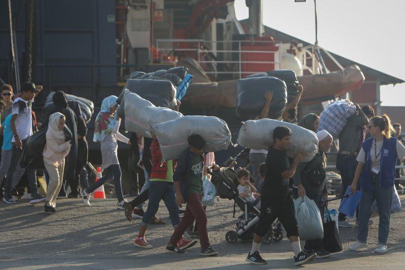 Πάνω από 640 μετανάστες έφθασαν στο λιμάνι της Θεσσαλονίκης / Φωτογραφία: EUROKINISSI