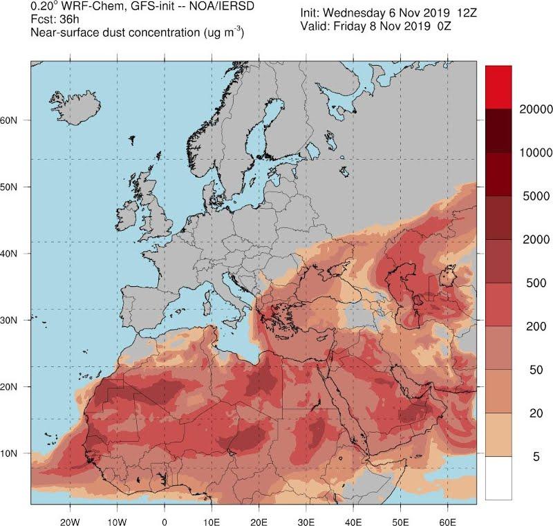 χάρτης καιρού